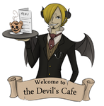 the Devil's Cafe of Halloween Town by Running-Gecko