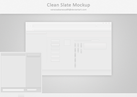 Clean Slate Mockup by vanessabanessa89