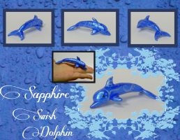 Sapphire Swish Dolphin by MalaCembra