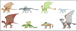 Some dragons' practice by Nebquerna