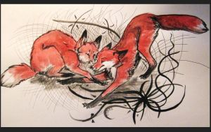 Foxes by Awiis
