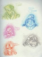Mass Effect Headshots by MonsterMadHatter
