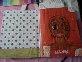 Art journal: inside cover and page 1 by Notebook-Queen