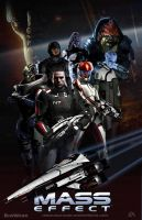 Mass Effect Trilogy Fan Art Triptych: Mass Effect by rs2studios