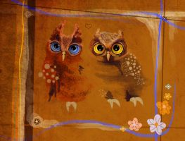 owls by WingsofaButterfly202