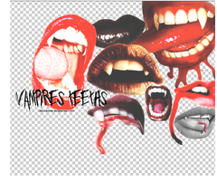 Vampires teeths PNG by chicledeuva1
