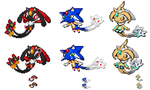 Legendary Hedgies Sprites by we-are-as-one