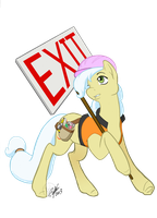 Big Apple Ponycon Ambrosia Exit sign COLORS by Bee-chan