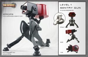 Team Fortress 2 Level 1 sentry gun by zanderwitaz