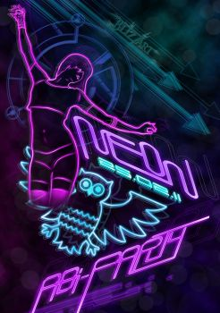 NEON PARTY FLYER by TheBlizZart