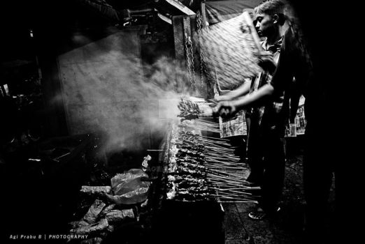 SATE AYAM - SATE KAMBING by agie