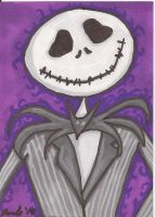 Jack Skellington Sketch Card by SweetMonkeyStudios