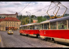 Tram, Prague by mysterious-one