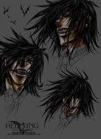 Alucard Profile Facial Collage 3 by vendixnosferatu