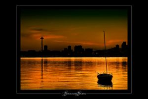 Color of Seattle from Alki by UrbanRural-Photo