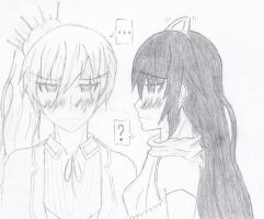 Monochrome: You're too close... (reuploaded) by Snowy-Requiem
