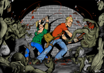 Mauling Them Zombies by HanneDW