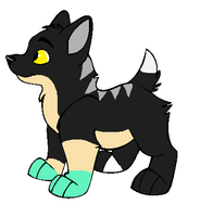 Xylia x Brokenbreeze Puppy for BlackWolf1112 by Twine-Adopts