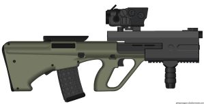 STEYR AUG RAV -jungle rampager- by ZiWeS