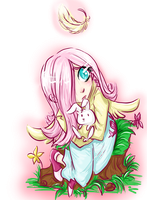 FlutterShy by Isine