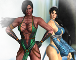 Kitana and Jade by Legendkaos