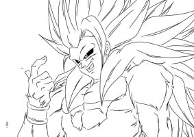 Super Saiyan 5 Goku by darkhawk5