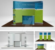 Trade Show Booth Mock Up PART2 by design-on-arrival