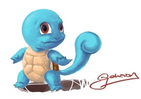 Day 007 Squirtle by Krazmuth