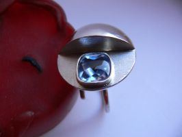 Silver ring with aquamarine by irineja