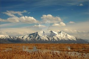 Spanish Fork Mountains by houstonryan