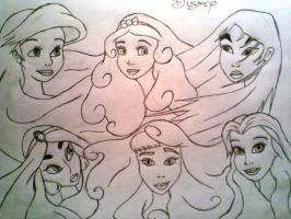 Disney Princesses by Disneylover00