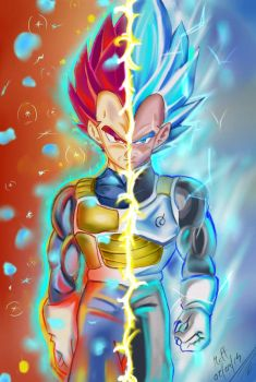 I TOO HAVE BECOME A GOD - ssgss vegeta by mcharrison38214
