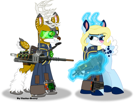 Tyandaga and Spirit (Fallout Equestria) by Vector-Brony
