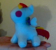 Tiny Rainbow Dash Plush by Miiroku
