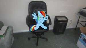 Rainbow Dash is in time out again by MetalGriffen69