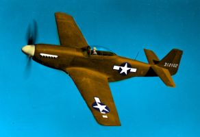 P-51 Mustang - colored version by Cobra5000