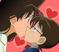 Conan love Ran kiss by black4869