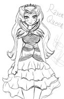 Ever After High: Raven Queen Doodle by Coco-Apple
