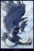 Sapphire dragon by Majungatholus
