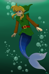 Oracle of Ages - Mermaid Suit by Poefish