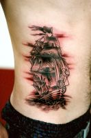 Pirate Ship On The Ribs by fatsalty
