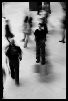 Alone in the crowd by moinerus