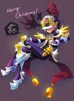 DragonNest: Xmas Costume of Cleric-Purple by ZiyoLing