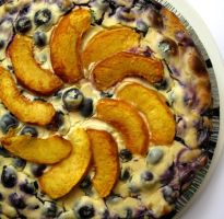 Blueberry Peach cheesecake II by acquiredflavor