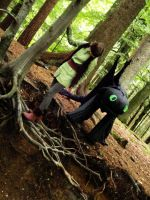 Hic and Tooth in the forrest by 77Flower77