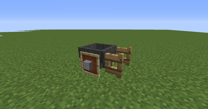 wheelbarrow in minecraft by firefollet