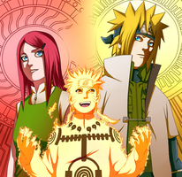 Naruto 544 Uzumaki Family by Sora-Shintaro