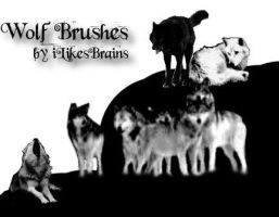 Wolf Brushes by iLikesBrains