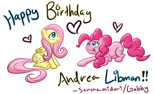 Happy Birthday Andrea Libman by serenamidori
