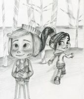 Rancis x Vanellope by artistsncoffeeshops
